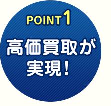 POINT1 商品を高価で買取!