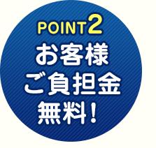 POINT2 お客様のご負担金はなんと0円!
